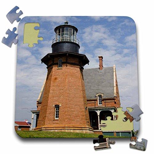 Danita Delimont - Lighthouses - Rhode Island, Block Island, Mohegan Bluffs, Southeast Lighthouse. - 10x10 Inch Puzzle (pzl_207442_2) ()