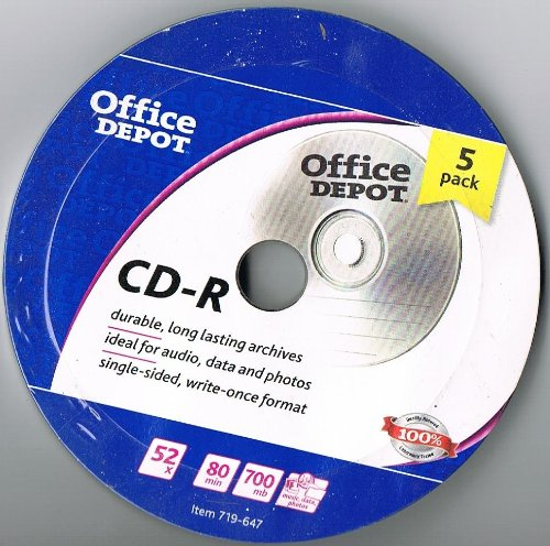 office-depot-cd-r-700mb-80-minutes-5-pack