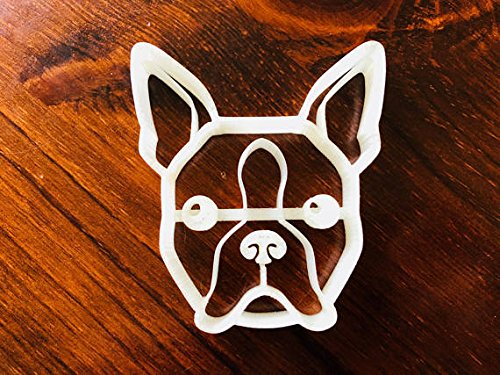Cole the Boston Terrier Cookie Cutter and Dog Treat Cutter - Dog Face (Boston Terrier Cookie Jar)