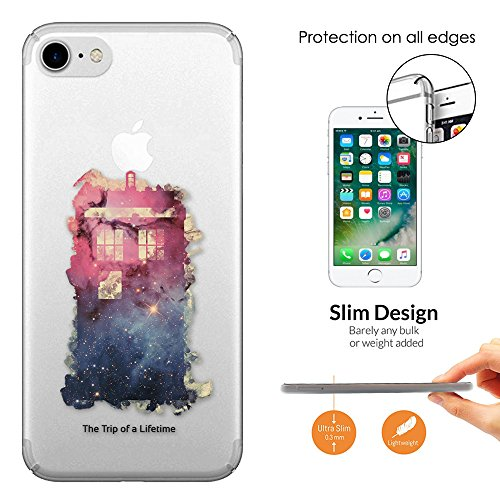"c00739 - Out Of This World Universe Doctor Who Police Box Tardis Pink And Blue Design iphone 6 Plus/iphone 6S Plus 5.5"" Fashion Trend Leichtgewicht Hülle Ultra Slim 0.3MM Kunststoff Kanten und Rücksei"