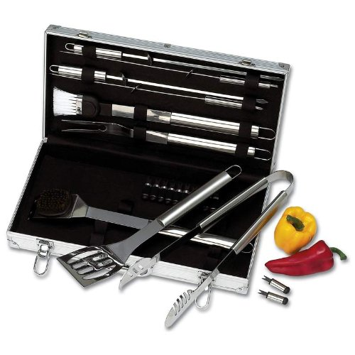 Chef-Master KTBQSS22 22 Piece Stainless Steel Barbeque Tool Set -