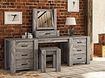 Schminktisch Grau schminktisch rustikal 06 massiv grau abmessung 140 x 174 x 48 cm