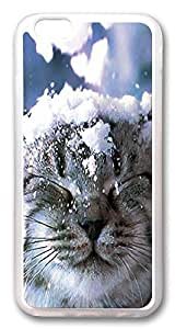 ACESR Cat In Snow Coolest iPhone 6 Cases, TPU Case for Apple iPhone 6 (4.7inch) Transparent
