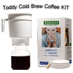 Amazon.com: Toddy Cold Brew Coffee Maker With 2 Extra Filters: Single Serve Brewing Machines ...
