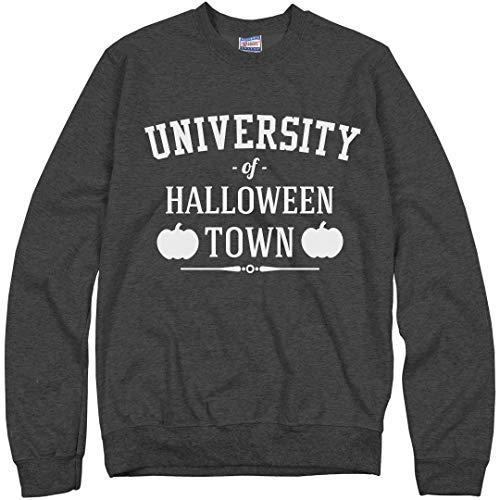 Customized Girl University of Halloween Town Sweater: Unisex Ultimate Crewneck Sweatshirt Charcoal Heather