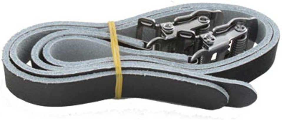 Pedal-Riemen Leder Paar schwarz Fahrrad