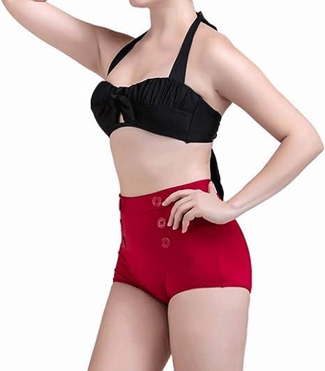 JINHONGH Bikini para Mujer Traje de baño de Dos Piezas Frente Nudo ...