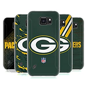 Official NFL Green Bay Packers Logo Soft Gel Case for Samsung Galaxy S6 active from Head Case Designs