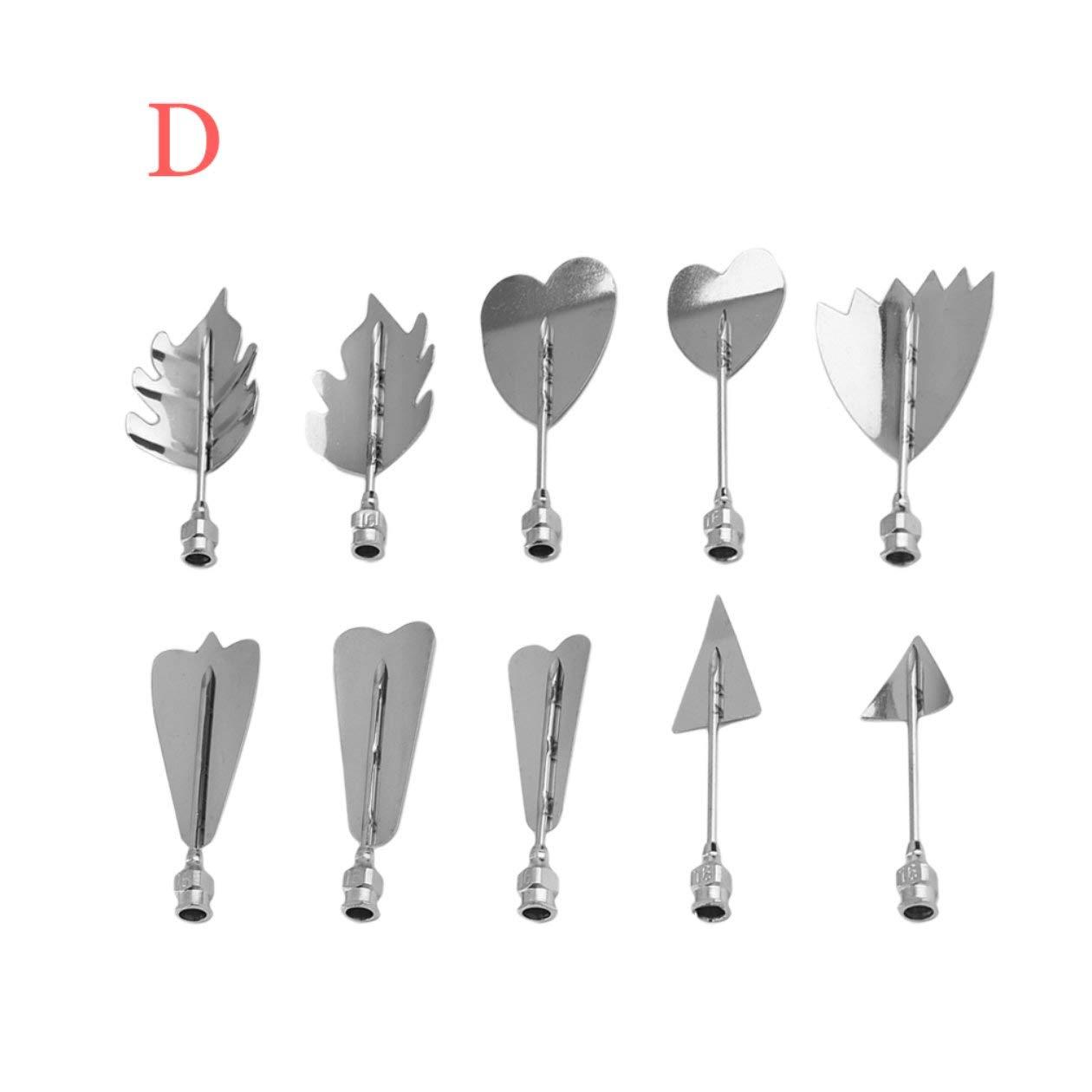 Herramientas del arte creativo del acero inoxidable de la jalea de flores 3D Jeringa 3D gelatina arte Herramientas Jello Gubbins set con estilo Differnt