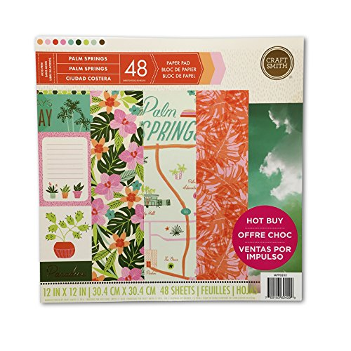 Craft Smith Palm Springs Paper Pad (Paper Scrapbook Tropical)