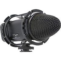XM-S Stereo Condenser Microphone with Fuzzy Windbuster For Panasonic Lumix DMC-G1 DMC-G2, DMC-G3, DMC-G10, DMC-G6K, DMC-GF1, DMC-GF2, DMC-GF3K, DMC-GF5K, DMC-GF6K, DMC-GH1, DMC-GH2, DMC-GH3K, DMC-GH4, DMC-GM1K, DMC-GM5K, DMC-GX1, DMC-GX7 Digital SLR Camera