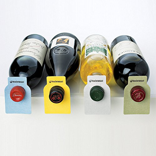Price comparison product image Wine Enthusiast 100 Count Color Coded Wine Bottle Tags