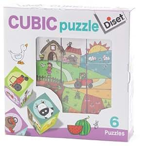 Diset 69183 - Cubic Puzzle Granja