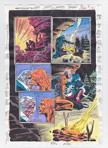 SHADOW OF THE BAT #26 PAGE 9 ORIGINAL COMIC PRODUCTION ART CLAYFACE SIGNED w/COA (Comic Book Original Art)