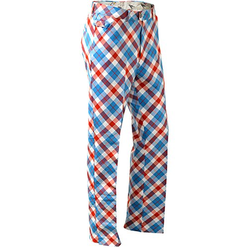 Royal & Awesome Men's Golf Pants, Plaid a Blinder, 30W x 30L ()