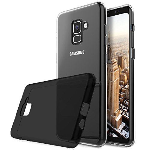 Capa Samsung Galaxy A8 2018 A530, Cell Case, Capa para Samsung Galaxy A8 2018, Capa Protetora Flexível, Fumê