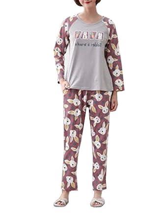 Pijamas De Dos Piezas para Mujeres Softy Pijama De Algodón De ...