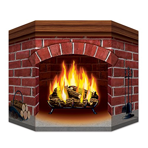 Beistle Brick Fireplace Stand-Up, 3 by 25-Inch, Multicolor ()