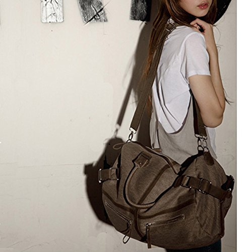 Canvas �� Shopping Hobo Bags Bag Travel Work Women Casual Bags Bags Khaki Purse Bags Shoulder Tote Handbag Big For rqx84wrT