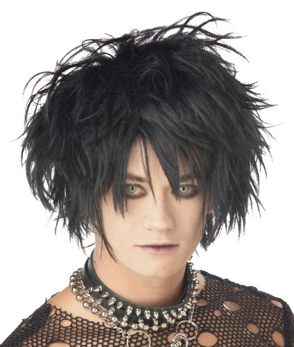 California Costumes Men's Midnight Fiend Wig, Black, One (Edward Scissor Hand Costume)