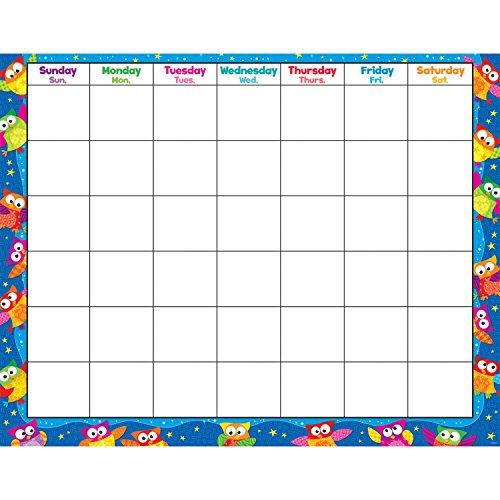 - TREND enterprises, Inc. Owl-Stars! Wipe-Off Calendar, Monthly
