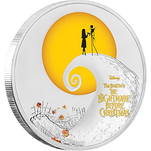 2017 NU THE NIGHTMARE BEFORE CHRISTMAS-DISNEY 1 oz Silver Coin Proof Coin Halloween Gift $2 Perfect Uncirculated ()