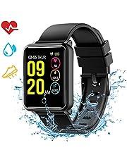 Mpow Smartwatch Wasserdicht IP68 Smart Watch Uhr mit Pulsmesser Fitness Tracker Intelligente Armbanduhr Fitness Uhr mit Schrittzähler Schlaf-Monitor Call SMS Benachrichtigung Push für Android und iOS