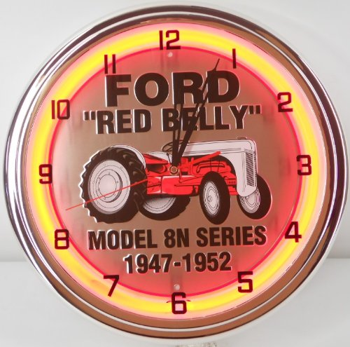 Ford Red Belly Tractor Model 8n Series 1947 1952 15 Quot Neon