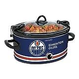 Crock-Pot NHL 6-Quart Manual Cook and Carry Slow Cooker, Edmonton Oilers, Pattern