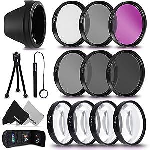 PRO 77MM Lens Filters + 77mm Lens Hood KIT for Nikon 70-200mm f/2.8G ED, NIKON 28-300mm f/3.5-5.6G, NIkon 18-300mm f/3.5-5.6G, Nikon 24-120mm f/4G, NIKKOR 16-35mm f/4G ED Lenses …