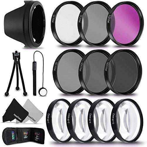 PRO 67MM Lens Filters + 67mm Lens Hood KIT for Canon EF-S 18-135mm f/3.5-5.6 IS / STM, Canon EF 35mm f/2 IS USM, Canon EF-S 10-18mm f/4.5-5.6 IS STM, Canon EF 100mm f/2.8L Macro IS USM Lenses by HeroFiber