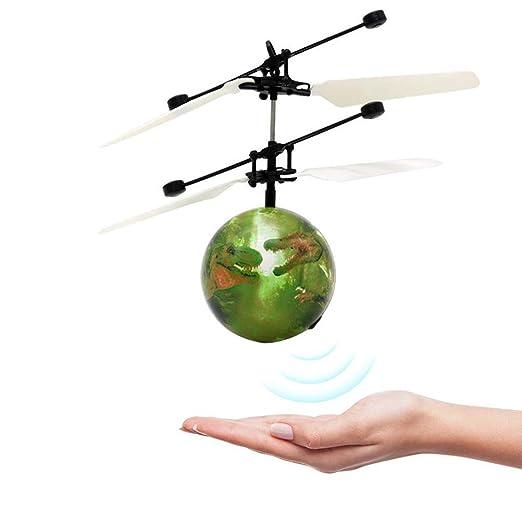 Bola voladora, juguete de dinosaurio por infrarrojos, mini dron ...