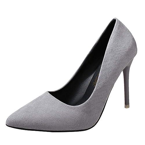 5404adcd Yudesun Negro Formal Tribunal Zapatos de Tacón Mujer - Mujeres Clásico  Puntiagudo Cuero Tobillo Tacones Zapatos Damas Trabajo Oficina Tacón Alto  Inteligente ...