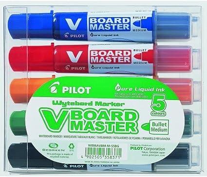 Pilot - Caja Rotuladores pizarra blanca 5 colores: Amazon.es: Oficina y papelería