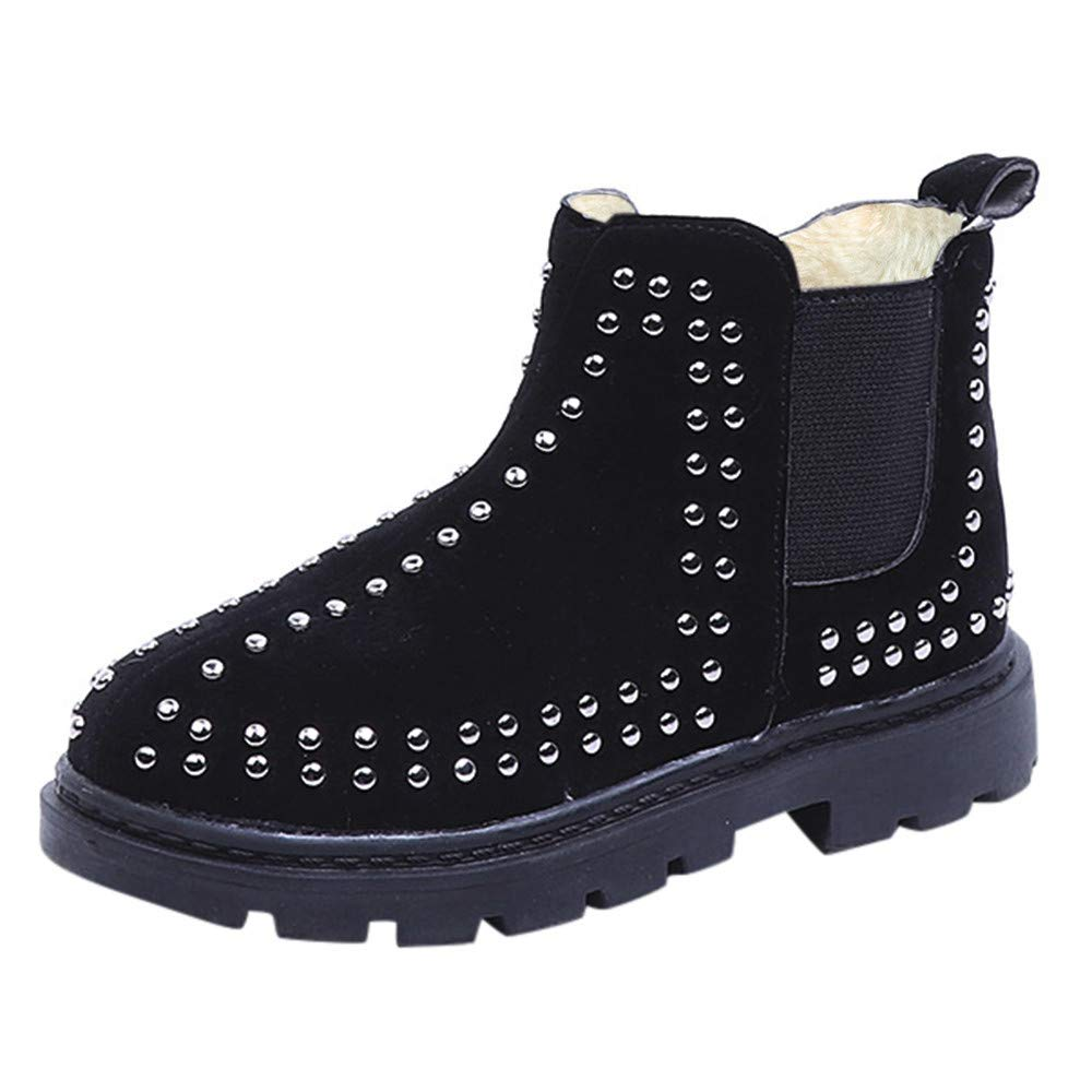 Autumn Winter Warm Baby Girls Martin Boots Fashion Shoes Zipper Casual Studded Pearl Princess Boots