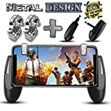 PUBG Fortnite Mobile Game Controller – [New Version] SEMSA Gamepad, L1R1 Sensitive Shoot and Aim Triggers Fire Buttons for iOS Android, Cell Phone Gaming Joystick Accessories, (2 Trigger and Game pad)