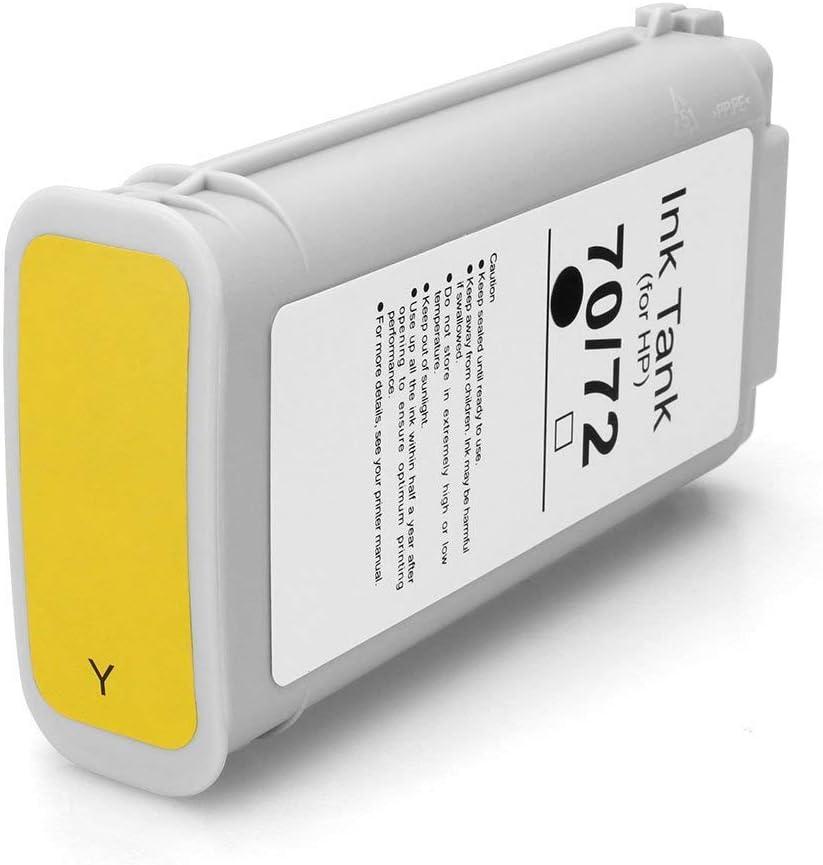 Karl Aiken Cartucho de Tinta Compatible HP 70 para HP DesignJet Z2100 Z3100 Z3200 Z5200, Color 1 Jaune: Amazon.es: Oficina y papelería
