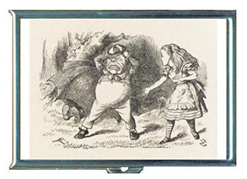 Alice in Wonderland Tweedle Dee DumステンレススチールIDまたはCigarettesケース( Kingサイズまたは100 mm )   B00SQMROYE
