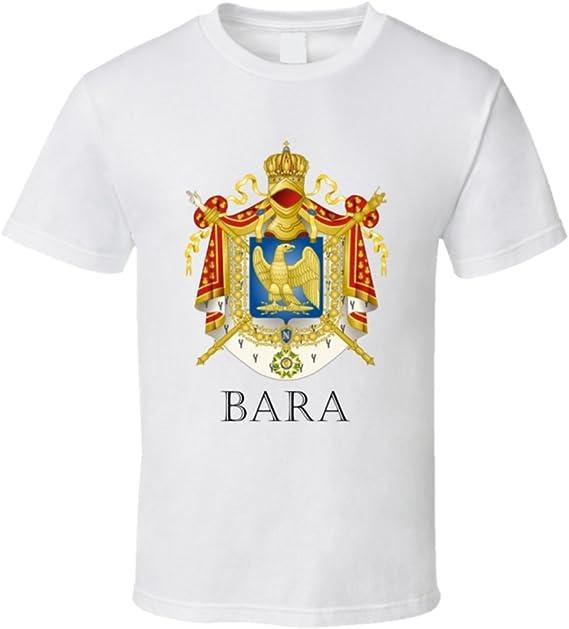 avatshirt Bara francés apellido personalizadas apellido Francia escudo T Shirt: Amazon.es: Ropa y accesorios