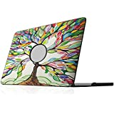 """Fintie MacBook Pro 13 Retina Case - Ultra Slim Lightweight PU Leather Coated Plastic Hard Cover Snap On Protective Case For Apple MacBook Pro 13.3"""" with Retina Display (A1502 / A1425), Love Tree"""