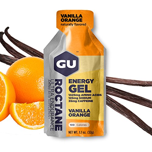 GU Energy Roctane Ultra Endurance Energy Gel, 24-Count, Vanilla Orange