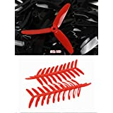 UUMART KingKong 5040 3-Blade Propellers (10 Pairs, 10CW, 10CCW) 5x4x3 Red Recommended Motor 1806(3-4S),2204(3-4S),2205(3-4S),2206(3-4S)