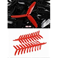 UUMART KingKong 5045 3-Blade Propellers (10 Pairs, 10CW, 10CCW) 5x4.5x3 Red Recommended Motor 2204(3-4S),2205(3-4S),2206(3-4S),2207(3-4S),2209(3-4S)