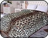 Animal Leopard skin Blanket, Korean Comfy, Safari Mink blanket, Warm, Comfort, Camping ,Full Queen Bed blanket, 75''Wx90''H . Over Sized Throw blanket, 2Ply blanket. By Hiyoko