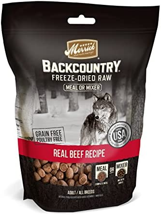 Merrick Grain Free Backcountry Freeze Dried Raw Meal Mixer