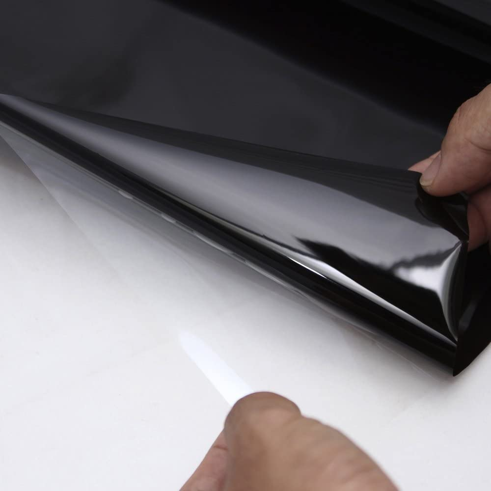 Black Katigan Car Tinting Film Top Front Windshield Foil Solar Gradient 20X150cm