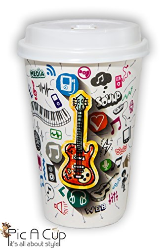 Pic A Cup Perfect New Designed For Premium Hot Coffee/Tea/Chocolate Disposable Paper Cups, With Leak Proof Lids. 12 Oz, Set Of 50 (Flavor Cappuccino Dispenser)