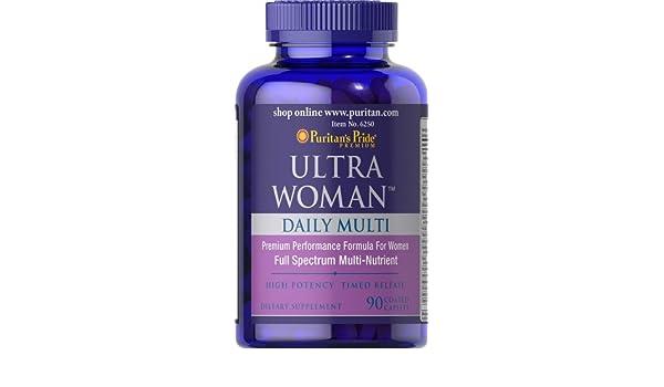 Multivitaminas y Minerales para Mujer. Ultra Woman Daily. 90 tabletas.. 1 und.: Amazon.es: Salud y cuidado personal
