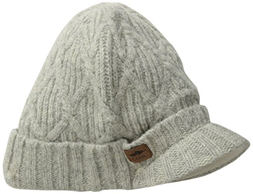 Coal mens The Yukon Brim Chunky Knit Warm Beanie Hat, Grey, One - Knit Beanie Cable Coal