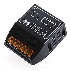 Generic regulador de carga regulador panel solar batería regulador controlador automática Gestión 12V/24V 15A